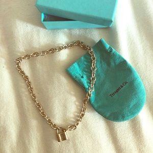 Tiffany & Co. 925 Silver Padlock Pendant Necklace